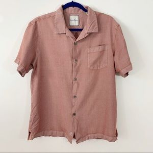 Tommy  Bahama . Button Down S/S Silk Shirt . L